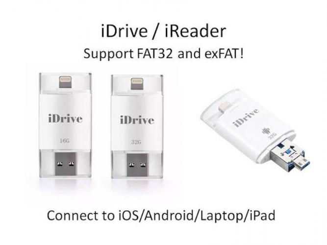 iDrive/iReader for Android/iOS ซัพพอร์ต FAT32 และ exFAT
